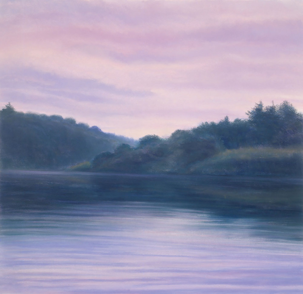 Late Summer, Housatonic Dusk, 33 1/2 x 34 1/2""