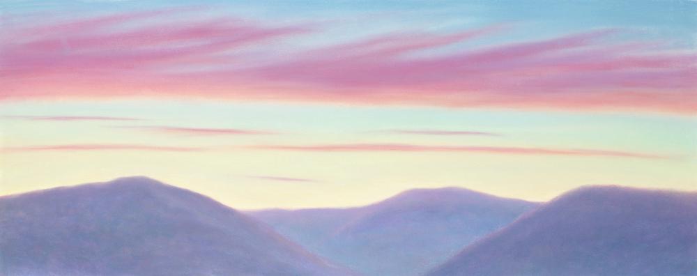 """Mount Greylock, November Dawn, Pastel, 20 x 50"""""""