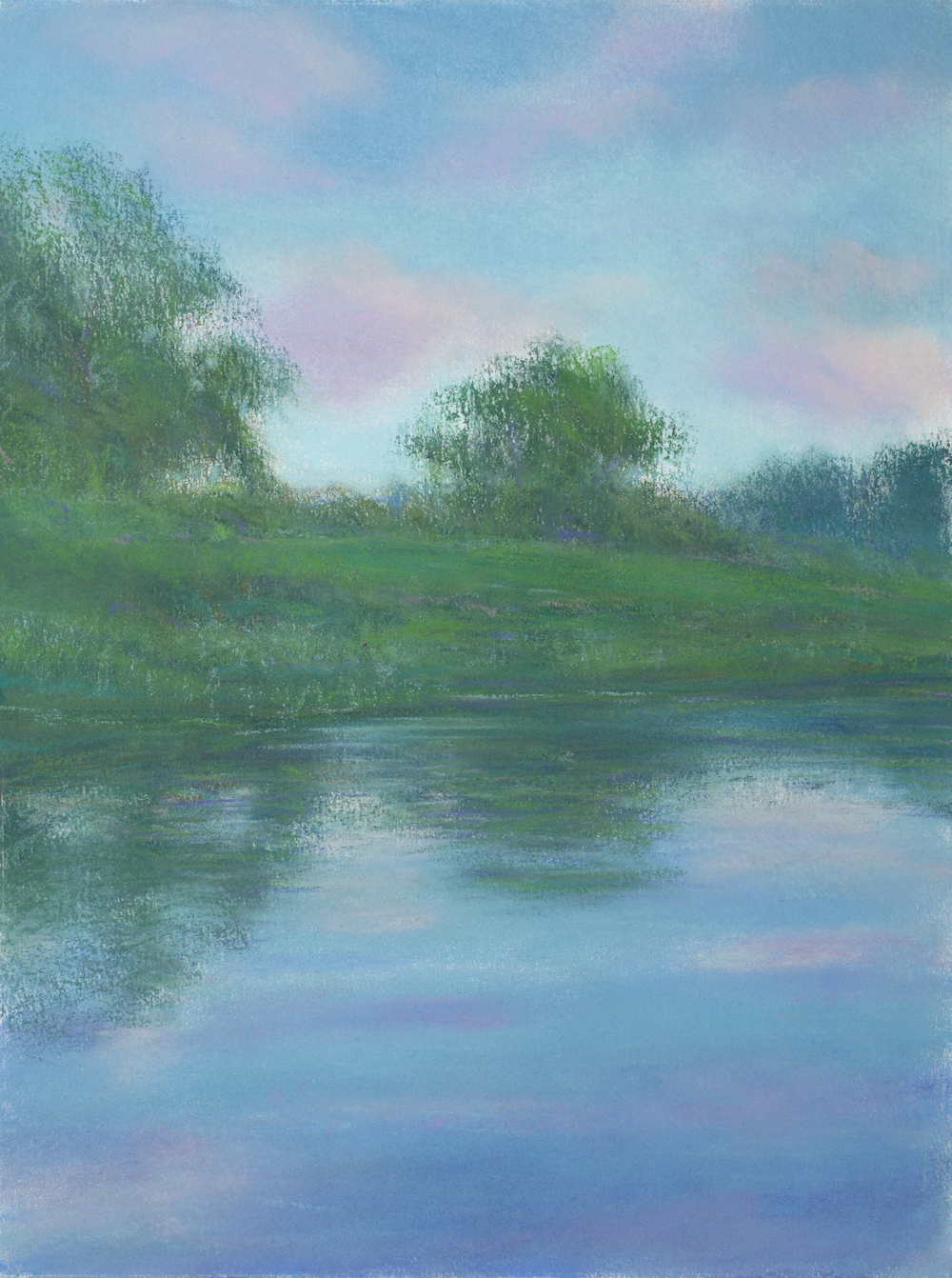Summer, Housatonic Afternoon, Pastel, 18 1/4 x 13 1/2""