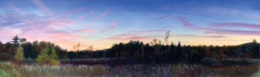 "October Crescent, Pastel, 20 x 66 1/4"""
