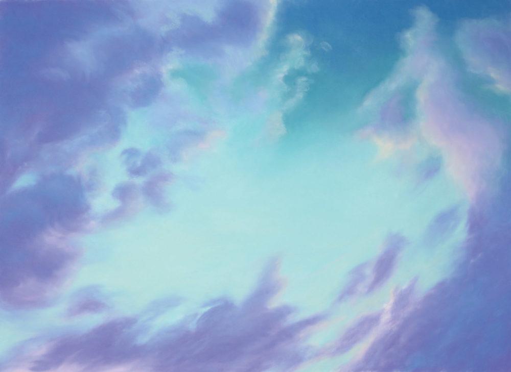"Skyscape Spring Dusk, Pastel, 35 x 48"""