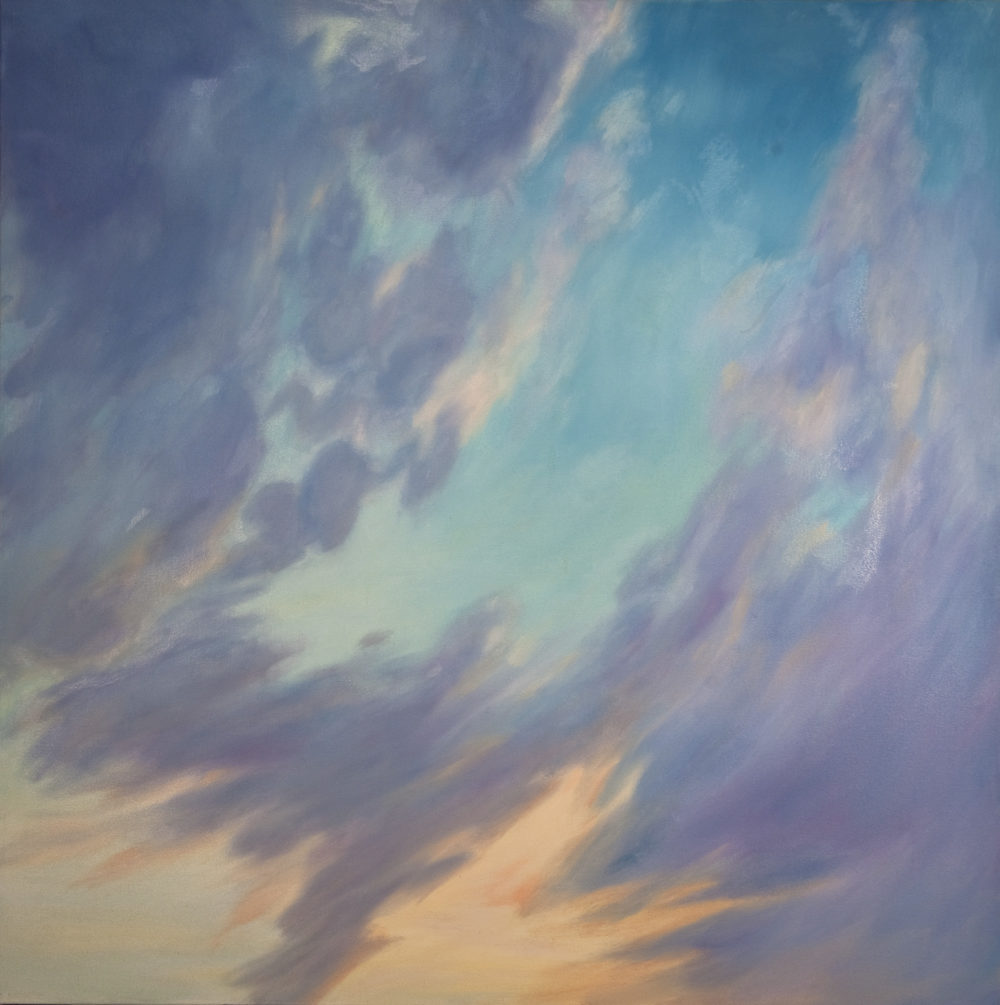 Tiepolo Sunset, Oil on canvas, 48 x 48""