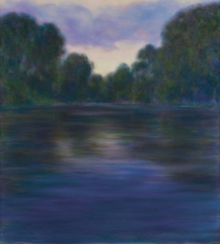 """Summer Dusk, Oil on canvas, 62 x 56"""""""