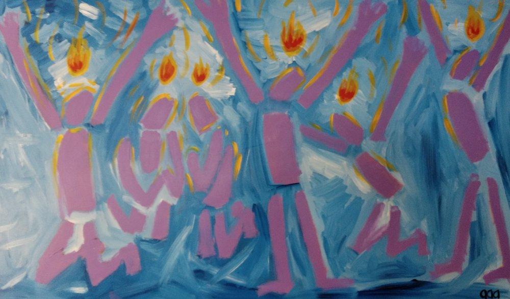 Holy Spirit Fire - Acrylic