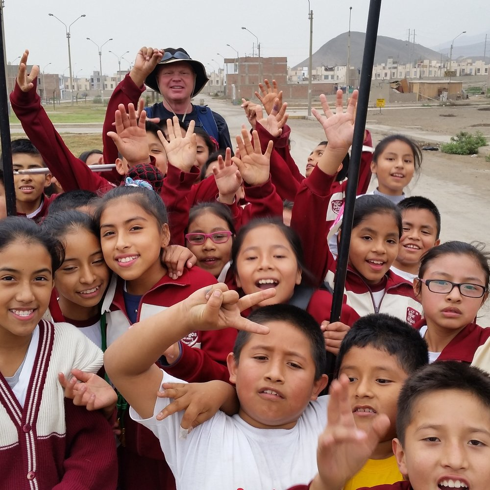 Keith Loyd in the mission field in Lima, Peru
