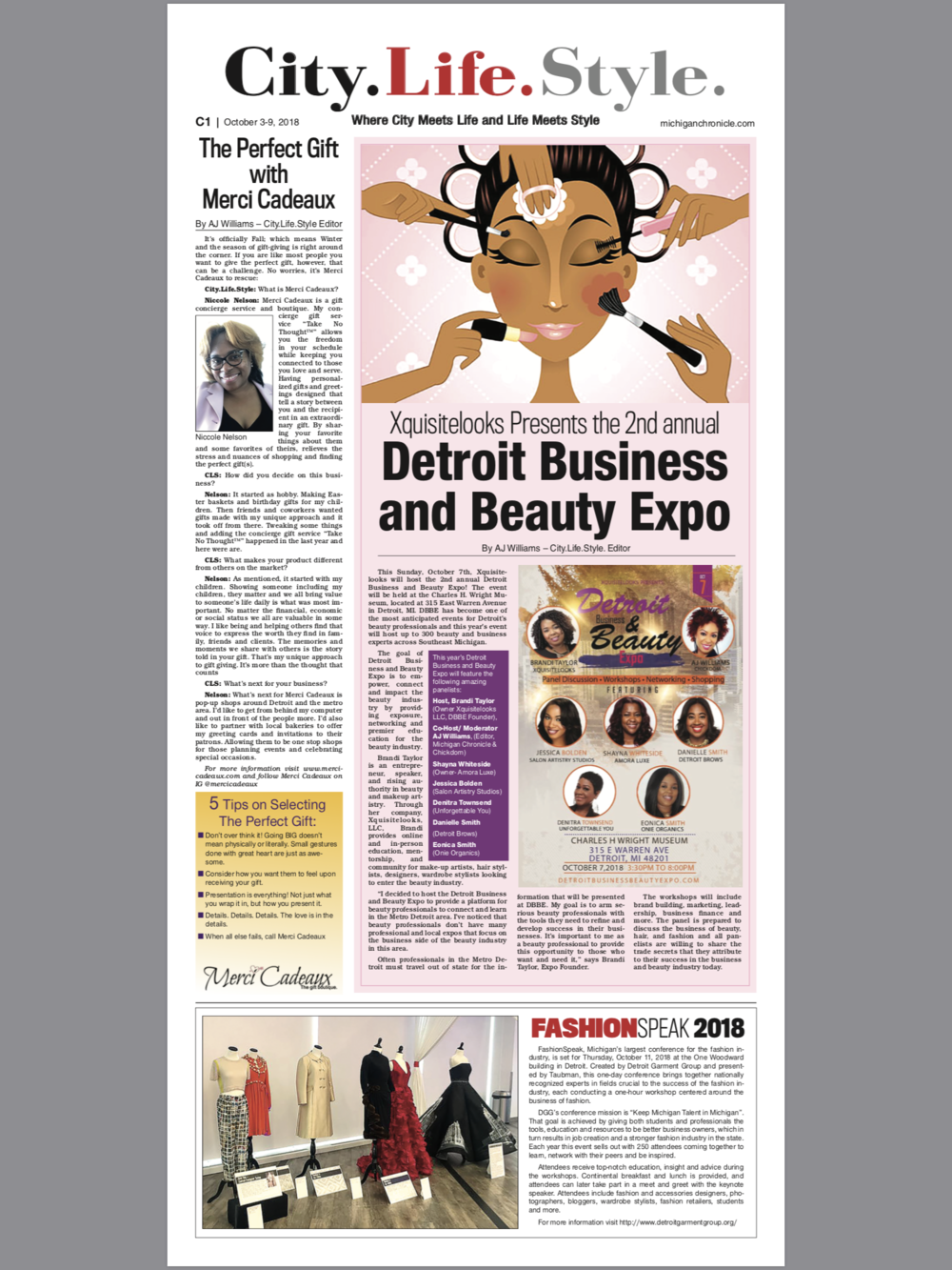 Michigan Chronicle - City.Life.Style. The Perfect Gift with Merci Cadeauxclick the image for full article