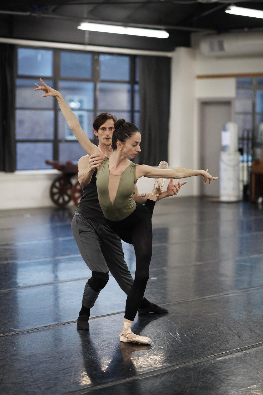Ava Chatterson and Dylan Keane Desilva rehearsing Amy Seiwart's  The Nutcracker . Courtesy of  Sacramento Ballet . Photo by David Desilva.