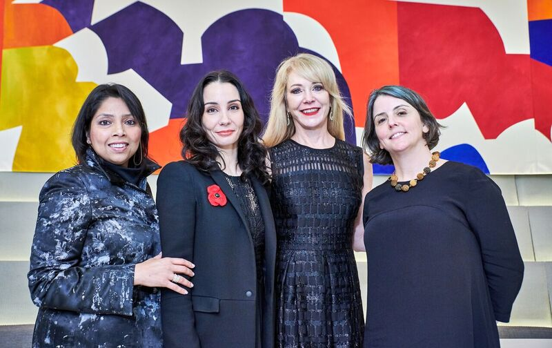 Pictured from right to left: Patricia Barretto, CEO of Harris Theater Chicago, Tamara Rojo, Artistic Director of the English National Ballet, DDP Founder Liza Yntema, and New York Times dance writer Marina Harss at the Guggenheim's Works & Process.