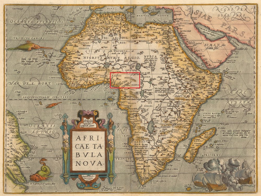 Figure 4: Africa Map published by Abraham Ortelius (1584)