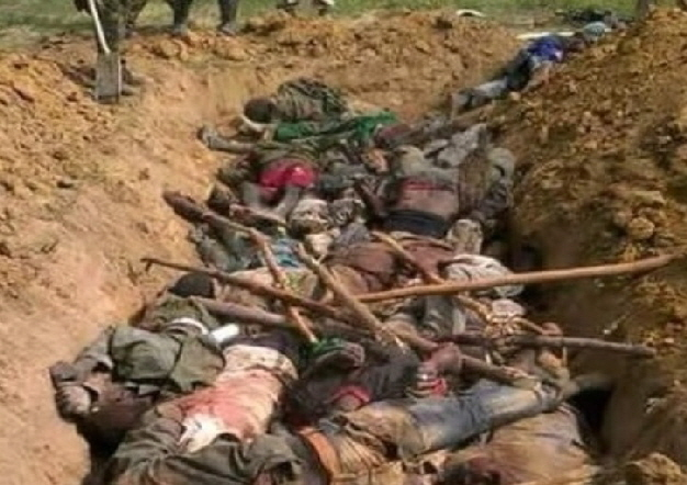 Mass grave of Biafrans killed by the Nigerian Police