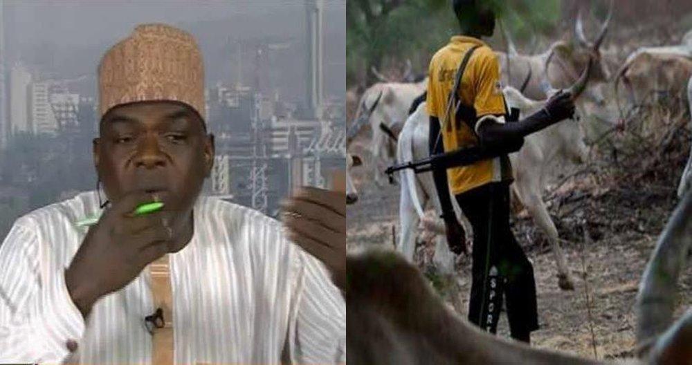 Usman Baba Ngelzarma: Myetti Allah Cattle Breeders Association National Secretary (left) and Fulani Herdsmen (right)