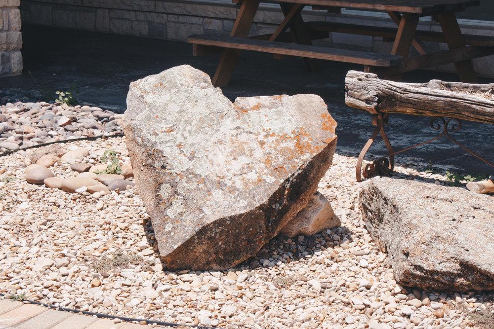 Boulder in Courtyard