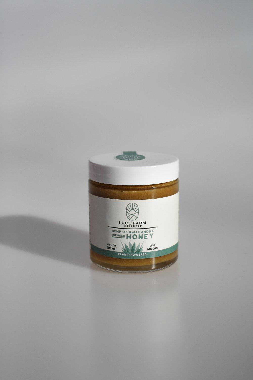 LUCE Farm CBD and Ashwaganda Honey
