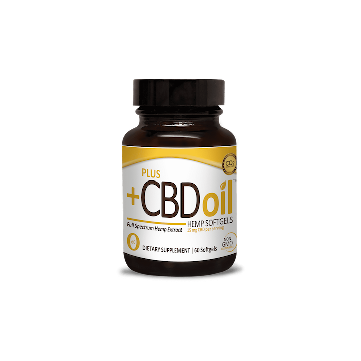 Our most recommended product - a  15mg softgel  from Plus CBD Oil.