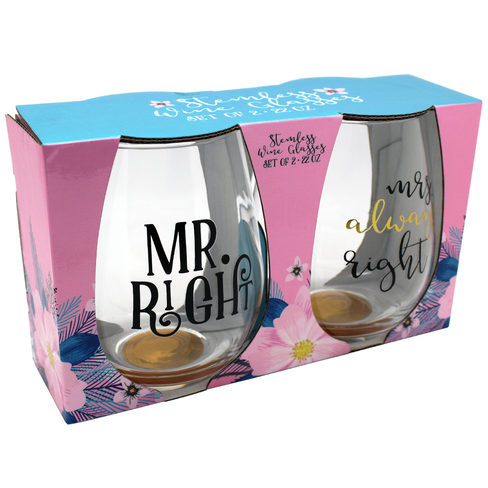 CH0381_gold_foil_and_black_mr_right_mrs_always_right_stemless_wine_glass_set_of_2_in_pkg.jpg