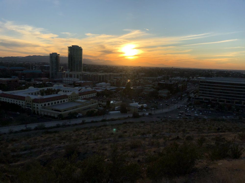 Downtown Tempe from A Mountain