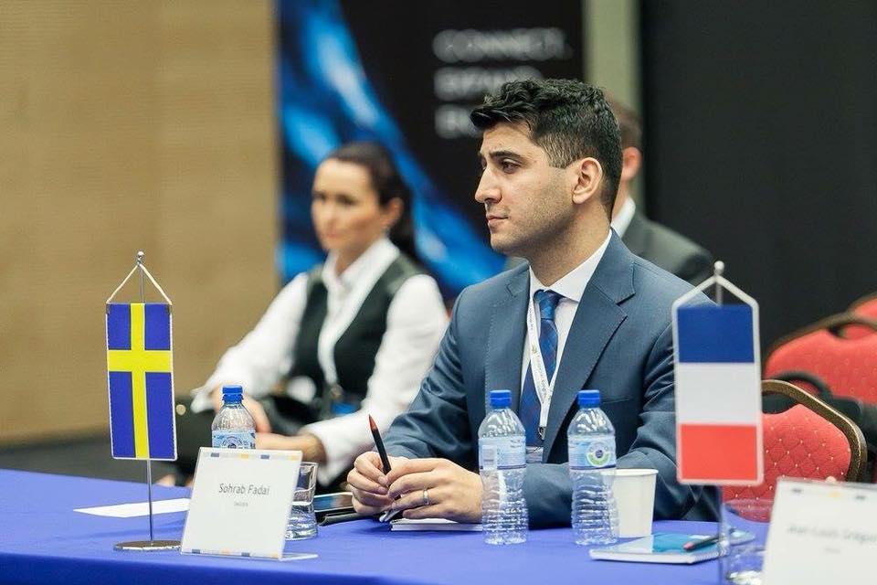 Panelsamtal med Europeiska Federationen för unga entreprenörer i Polen.