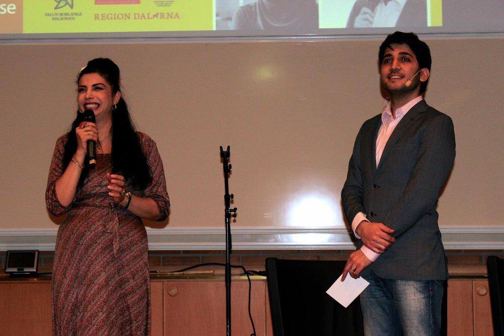 Moderator för event med bland andra komikern Zinat Pirzadeh