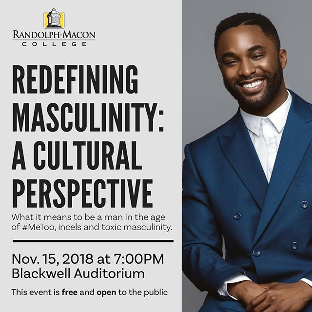 Join us Nov. 15 as R-MC hosts Tayo Rockson. A speaker, consultant & media personality, Rockson will discuss A Cultural Perspective of Masculinity @TayoRockson @RMCOSL @RMCAlums http://bit.ly/2QgWDn9 @RMCtheEdge