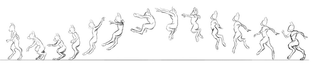 Concept   Running and jumping keyframes