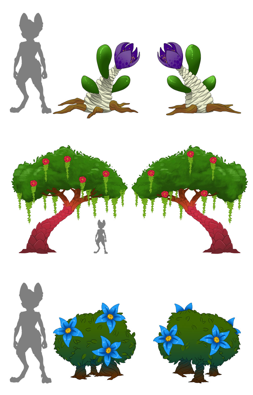 Final concept   The final design for the vegetation in-game