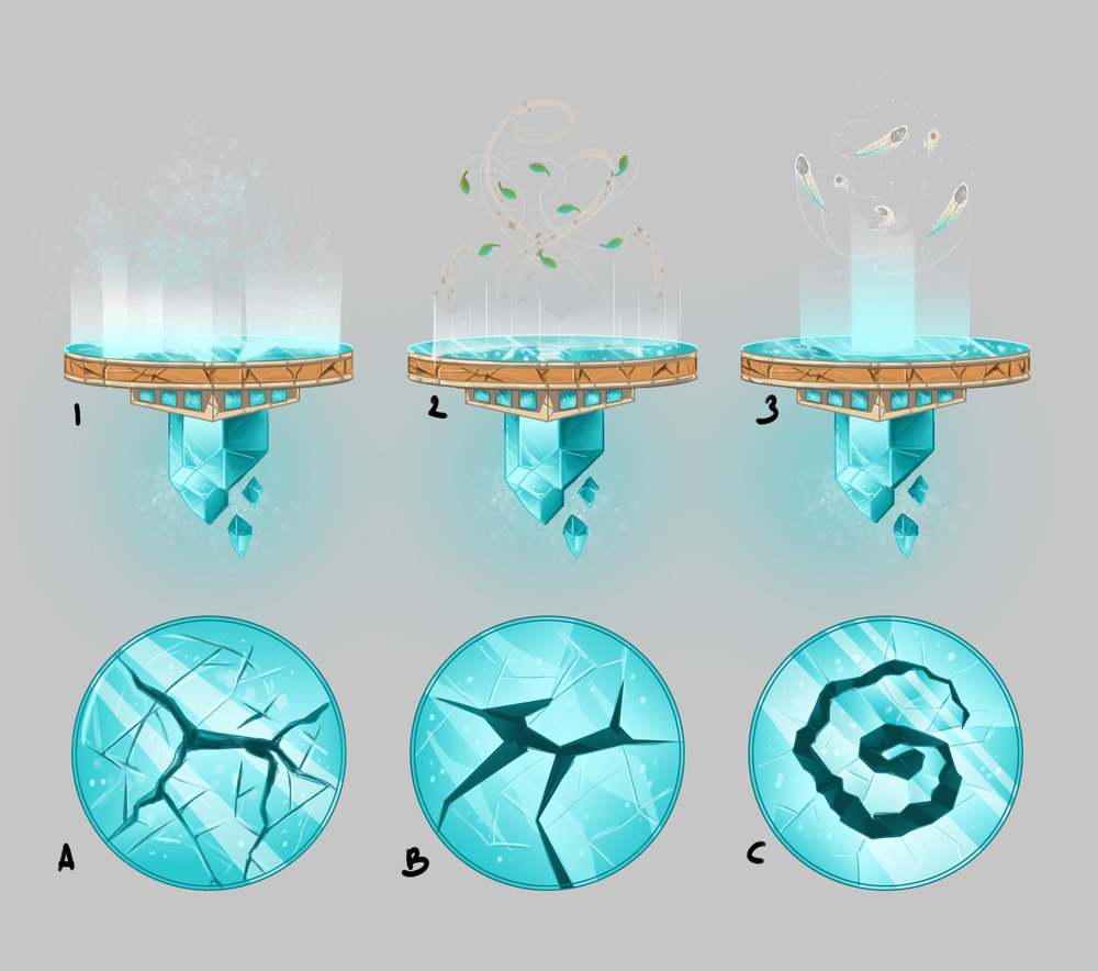 Concept   A variety of designs for the updrafts in-game
