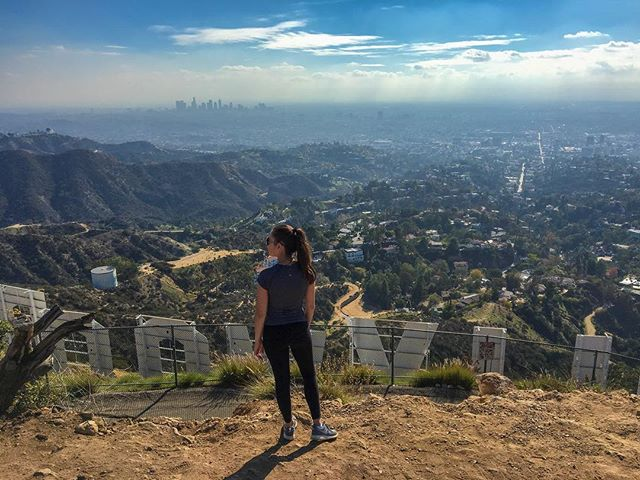 overlooking the city of angels
