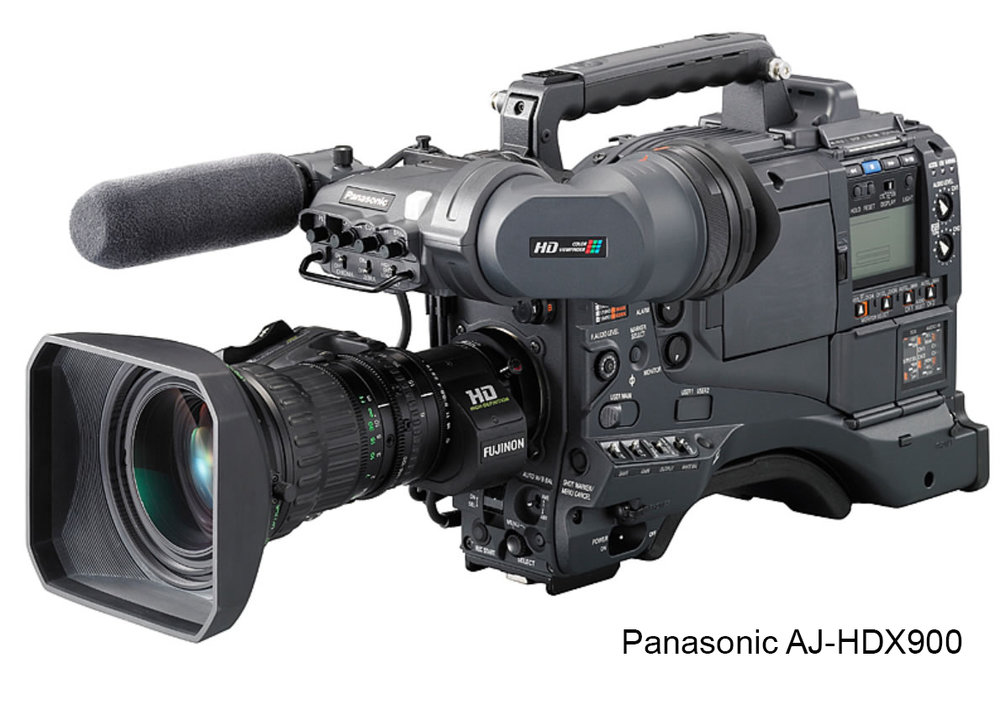 "Product Highlights:  - Tape-Based DVCPRO HD - Dynamic Range Stretching - 1080i - 720p - CineGamma   Description:  The  Panasonic AJ-HDX900  is a professional tape-based DVCPRO HD camera designed for a wide variety of applications, including news, documentary, and dramatic television/cinema. The 1-megapixel 3CCD system provides pristine images while performing exceptionally well in low-light situations. This professional camcorder has the ability to capture both 1080i and 720p, which means that no project is out of reach.   Technical Specifications:   Signal System1080/60i, 30p, 24p 1080/50i, 25p 720/60p, 30p, 24p 720/50p, 25p<Image Device2/3"" 3CCDLensNoneSignal-to-Noise Ratio54dBHorizontal Resolution700 TV LinesSensitivityF10 at 2000 luxMinimum Illumination0.032 Lux @ 36dB, 20dB, 6dBVertical Smear Not Specified By Manufacturer Built-in FiltersCC: Cross, 3200K, 4300K, 6300K ND: Clear, 1/4, 1/16, 1/64LCD MonitorNoViewfinder20-Pin, B/W, NTSC/PAL Switchable Scan MatchingYes Different Ranges for Different Record ModesMemory Card SlotSD Memory Cards for Scene-File SharingShutter Speed Range1/60 (50Hz), 1/100 (59.94Hz), 1/120, 1/250, 1/500, 1/1000, 1/2000 sec and HALFGain Selection0-18dB RangeVTRTape Format Not Applicable Tape Speed60i: 67.640 mm/s 50i: 67.708 mm/sSignal-to-Noise Ratio Not Specified By Manufacturer Maximum Recording Time33 minAudioAudio Dynamic Range85dBAudio Signal Format16 bit/48kHz Four ChannelsAudio Frequency Response20Hz to 20kHzSignal to Noise Ratio Not Specified By Manufacturer GeneralInput and Output ConnectorsComposite: BNC (x1 Output) Component: D4 Terminal (x1 Output) SDI/HD-SDI: BNC (x1 Output) Timecode: BNC (x1 Input, x1 Output) FireWire: 6-Pin DC Power: XLR (x1 Input, x1 Output) Remote: 10-Pin Lens: 12-Pin EVF: 20-Pin USB 2.0: 4-Pin (Type-B) Microphone: XLRx2 (x1 Input) Analog Audio: XLRx2 (x1 Input) Line Out: Pin Jack Headphone: 3.5mm Stereo Mini Jack Wireless: 25pin D-SubPower Requirements12VDC (11 - 17V)Power Consumption36WOperating Temperature32 - 104°F (0 - 40°C)Dimensions (WxHxD)5.1 x 10.7 x 13"" (12.9 x 27.1 x 32.9cm)WeightBody Only: 9.9 lb (4.5kg) During Operation: 16.7 lb (7.6kg)"