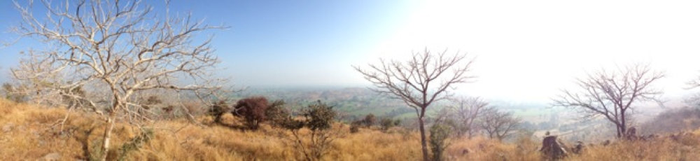 the landscape of Khajuraho, the second Himalayan Institute India campus.