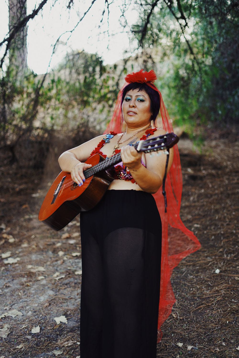 San Cha - San Cha is a singer-songwriter known for her explosive, visceral and emotional live performances. She captivates audiences with their blend of Mexican Folk Music, Cumbia and Punk. Belting out 'Gospel Ranchera Punk' while twirling around the stage, San Cha will you leave you inspired, healed and transformed.https://sancha.bandcamp.com/
