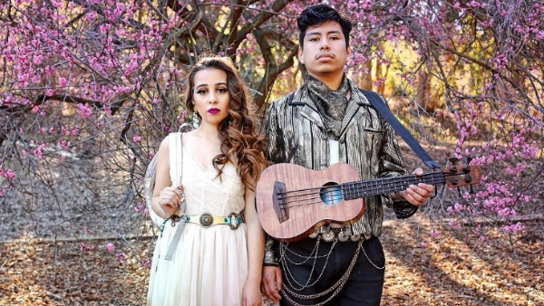 sin color - Ambitious LA duo Sin Color have been developing their craft since forming in 2014, when Crisia Regalado and David Aquino first started composing and playing together as teenagers in South LA. Their music embodies traditional styles passed on from older Latin generations, transforming cumbia, mariachi and disco into indie dance pop with catchy melodies and introspective lyrics, achieving a sophisticated sound way beyond their years. Sin Color's captivating live show and determined approach has earned them a solid buzz and a loyal following in the local LA music scene.Instagram @sincolormusicFacebook.com/sincolortheband