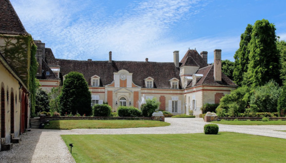 The chateau is located in central Burgundy on a 100+ acre estate.