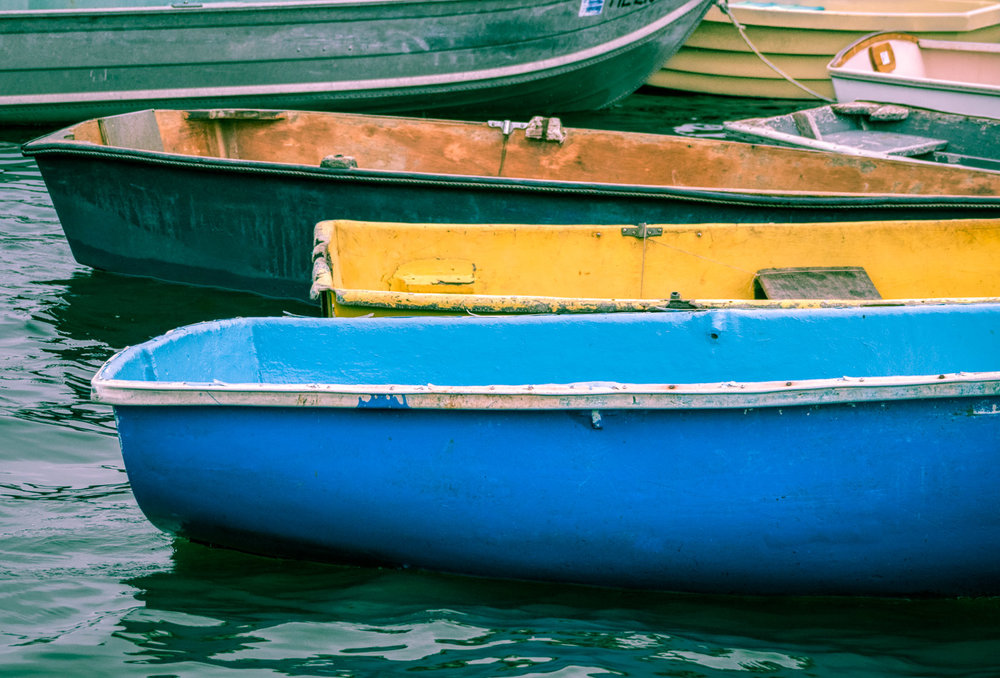 Old Colorful Boats