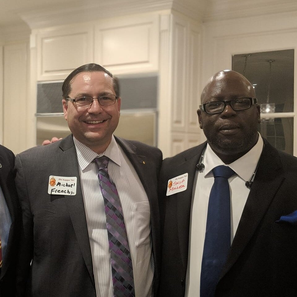 Michael French (center) with brothers from Beta Mu