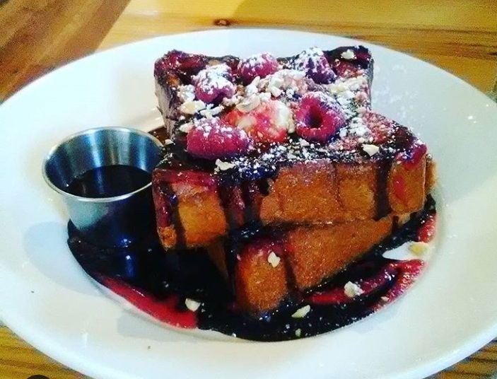 Raspberry French Toast - Front street cafe Philadelphia