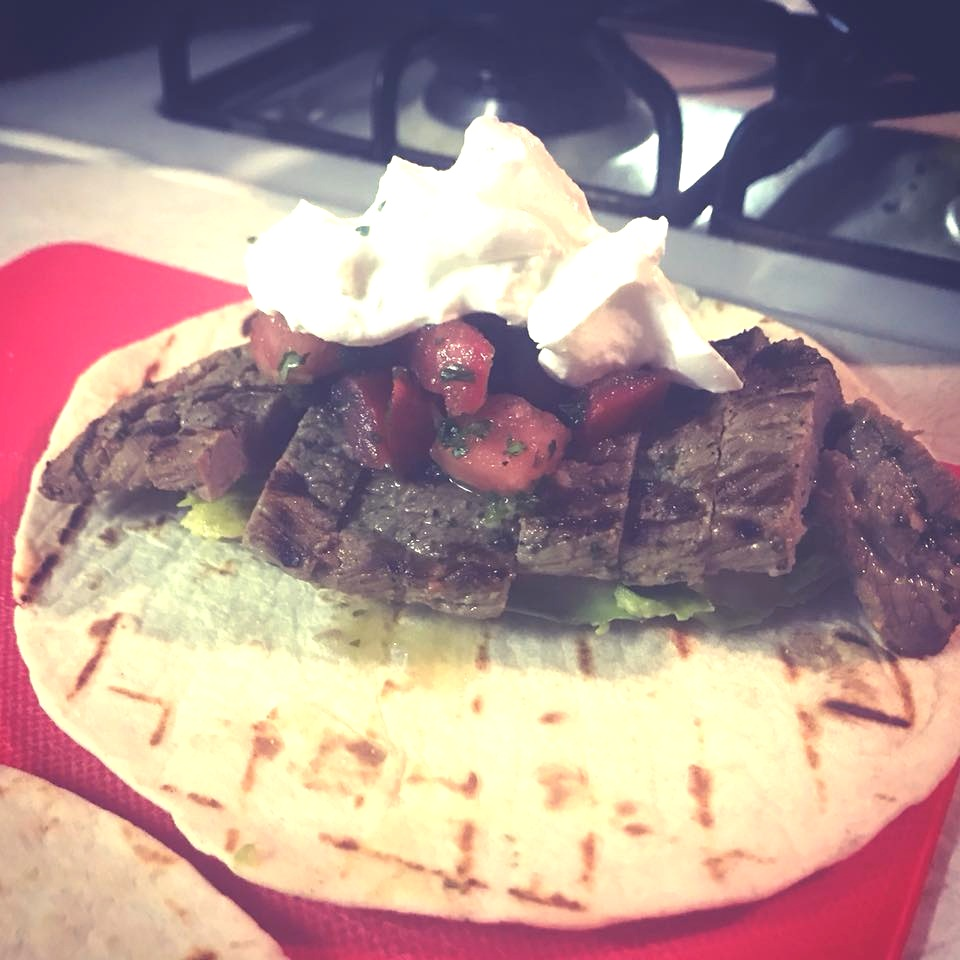Grilled steak taco -