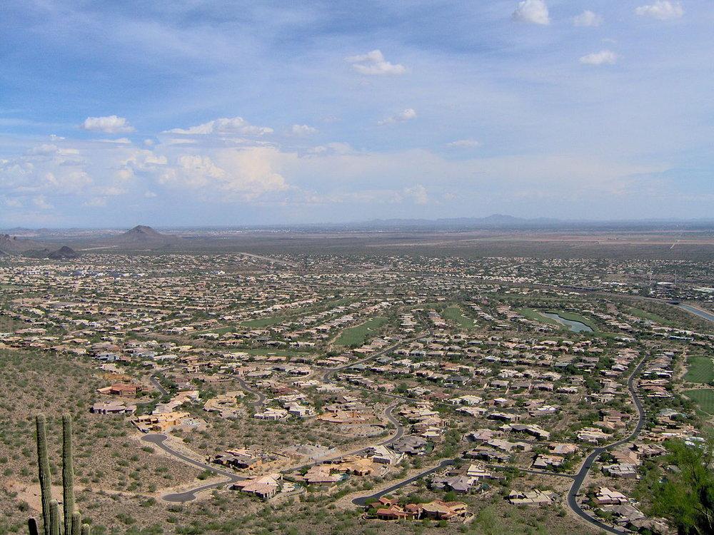 Typical urban sprawl