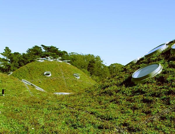 Green roof, California Academy of Sciences, San Francisco, California