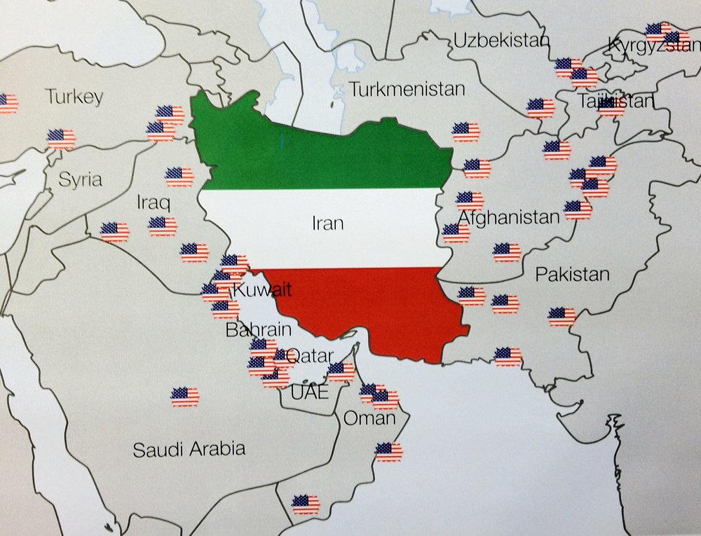 US bases surround Iran -