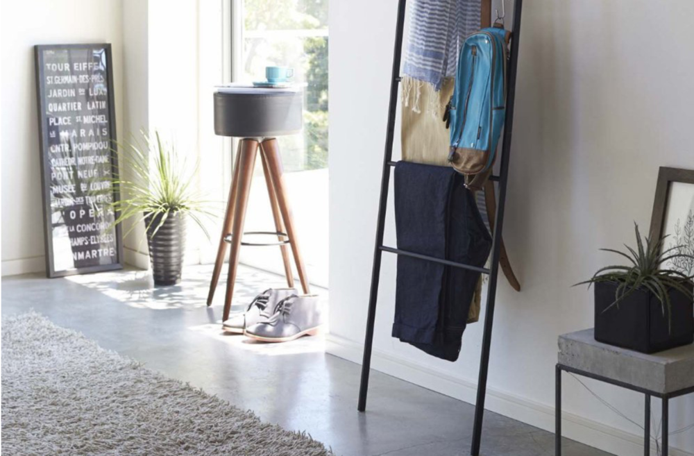 Yamazaki Home Leaning Ladder Rack - Get your stuff off the floor with this space saving ladder. Great for holding your daily uniform and even folded blankets and scarves.