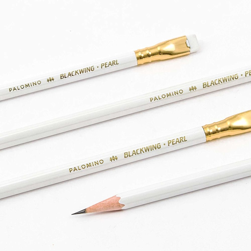 "Palomino Blackwing Pencils, 12 Pack - These soft, smooth-writing pencils date back to the 1930s and were beloved by John Steinbeck, Chuck Jones and Stephen Sondheim. The original slogan was ""half the pressure, twice the speed."""