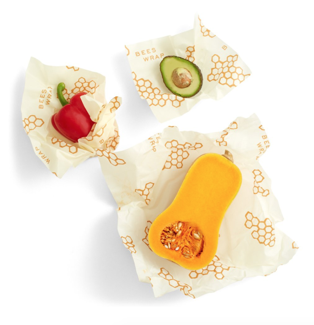 Bee's Wrap Reusable Food Wrap - I use these wraps for chunks of cheese, half-used veg and sandwiches, basically anytime you would use plastic wrap. They close with the warmth of your hands and don't seem to retain any food odor even with just a quick rinse with water.