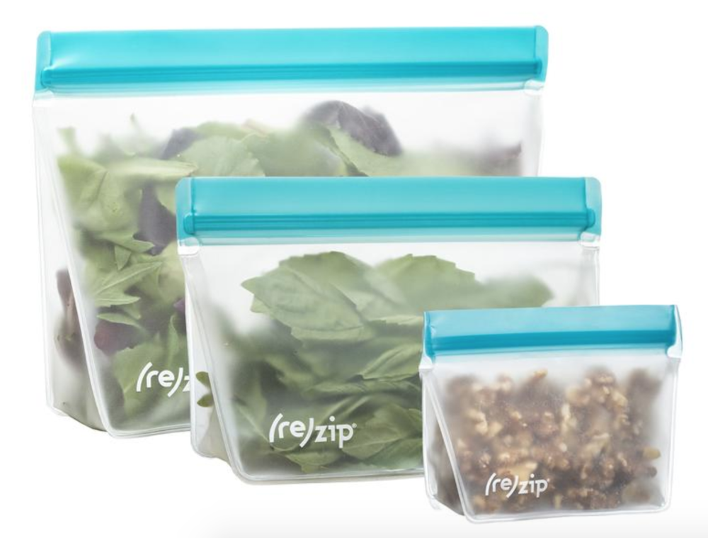 Rezip Reusable Sandwich Bags - These have pretty much completely replaced plastic bags in our household. Perfect for snacks and sandwiches and easy to rinse out with soap and water and let air dry.