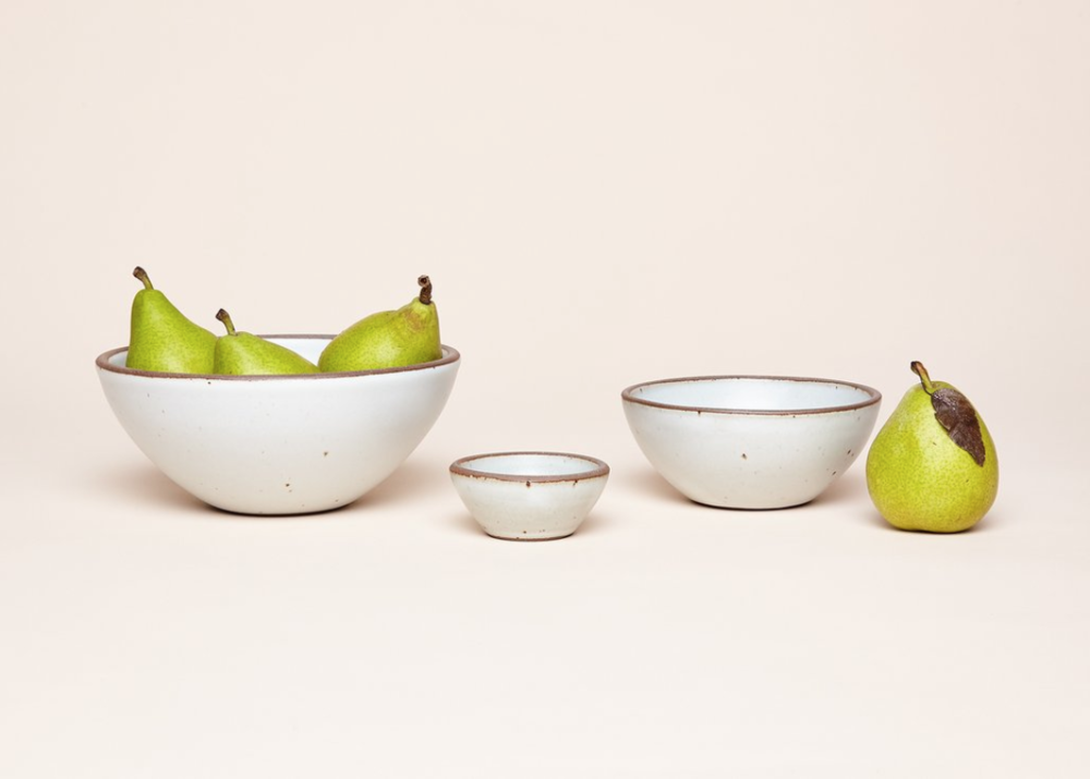East Fork Bowls - This Asheville based ceramics company makes beautiful pieces. The smaller two bowls are perfect for olives and pits.