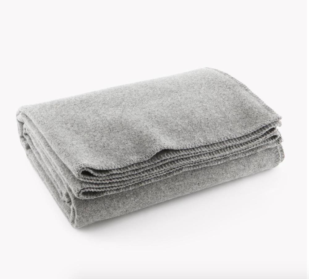 Faribault Wool Blanket - I've taken an anti-duvet stance (too hot and too much of a hassle to clean) and just use this wool blanket in the winter instead. Simple and toasty.