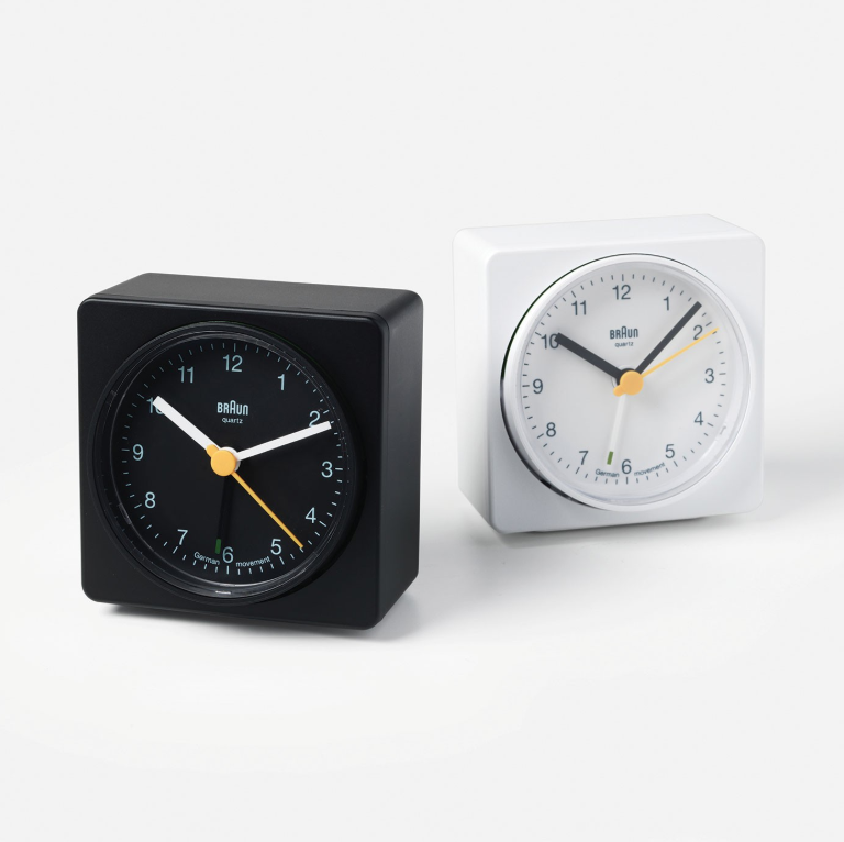 Braun Alarm Clock - I remember this Dieter Rams icon from my parents' nightstand and it still holds up. I got mine in an effort to keep my phone out of the bedroom.