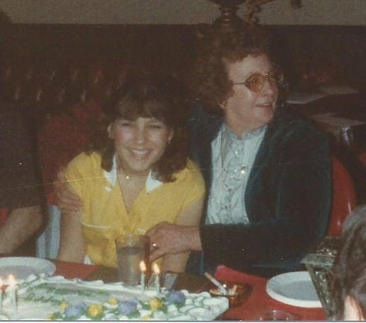 1980 - Maribeth with Grandma