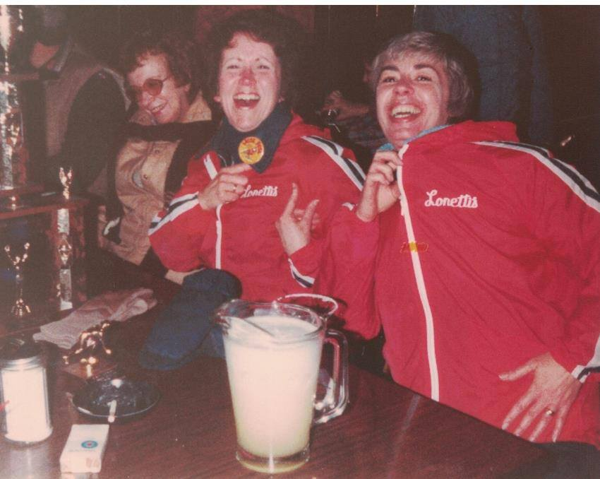 1977 - Winning Celebration: Eva, Lynn and Claudia
