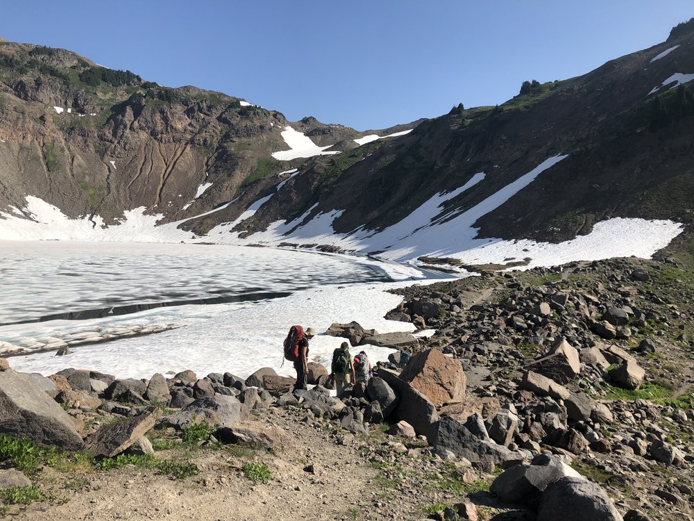 Leaving goat Lake