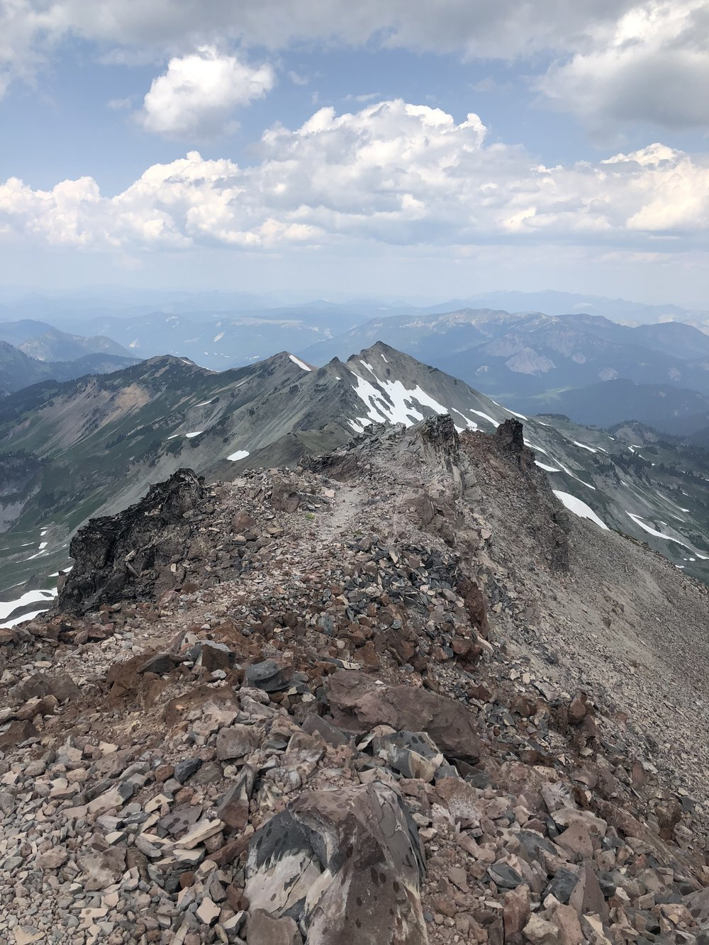 Walking along the spine of the earth – the trail extends all along the ridge here for several miles